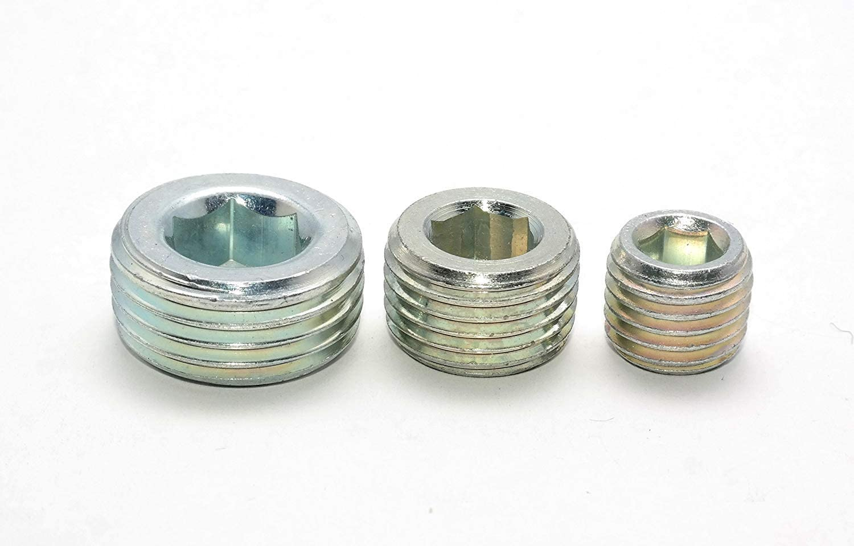 Verschlussschraube DIN 906 R3//8-5 St/ück Innensechskant kegeliges FEIN-Gewinde mit Innensechskant in Stahl Verzinkt