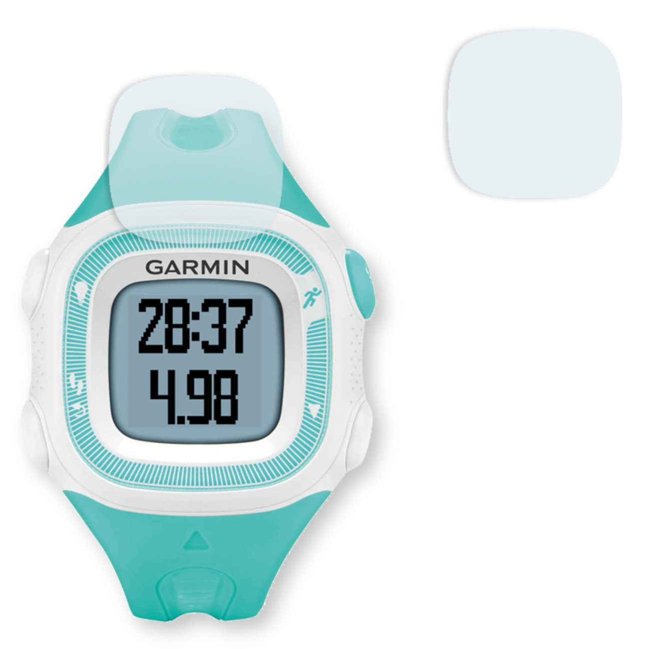 GOLEBO 2X Crystal Clear Screen Protector for Garmin Forerunner 15 S - (Transparent Screen Protector, Air Pocket Free Application, Easy to Remove)