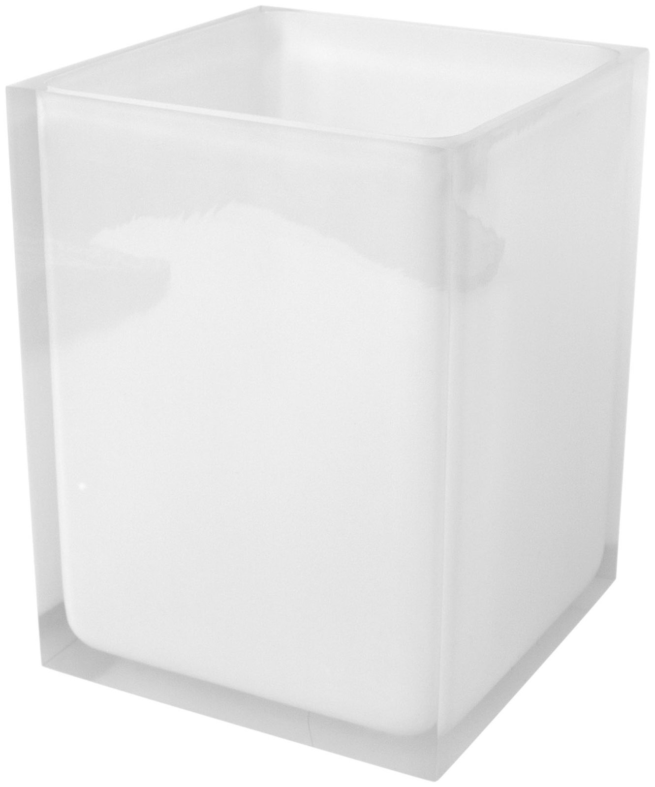 Jonathan Adler Hollywood Waste Basket, White by Jonathan Adler