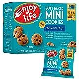 Enjoy Life Soft Baked Mini Cookies, Soy Free, Nut Free, Gluten Free, Dairy Free, Non GMO, Vegan, Chocolate Chip, 28 Gram Packs (Pack of 36)