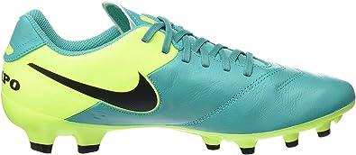 Nike Tiempo Genio II Leder Fester Boden Fußbalchuhe, Chaussures de Football Homme