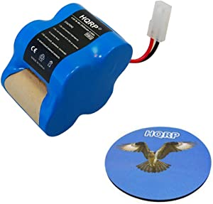 HQRP Rechargeable Battery 4.8v 2.0Ah Works with Euro-Pro Shark Sweeper VX1 / X8905 / V1930 / V1700Z Cordless Floor-and-Carpet Cleaner Replacement Plus Coaster