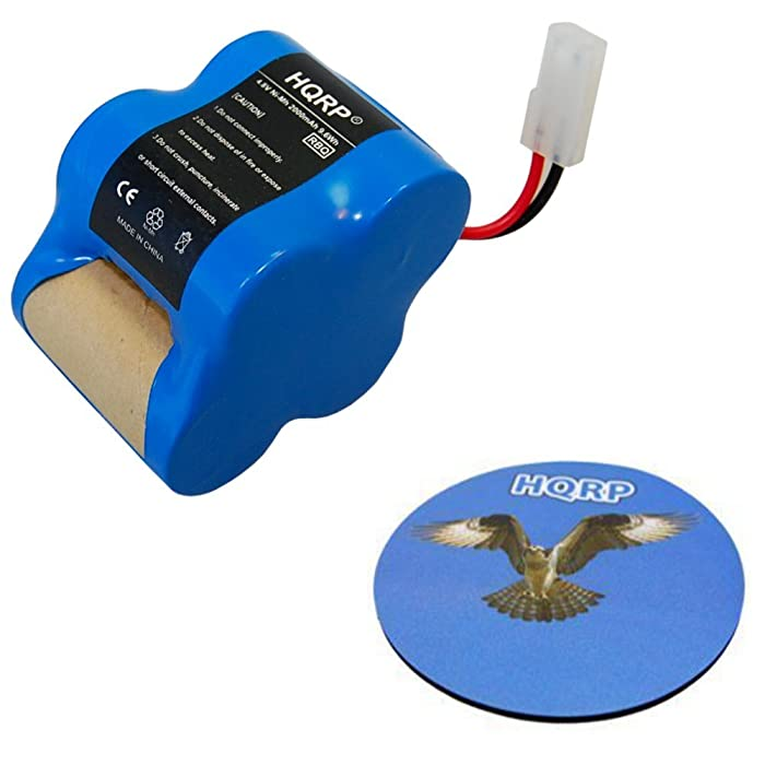 HQRP 4.8V 2000mAh Rechargeable Battery for Euro-Pro Shark Sweeper X1725QN VAC-V1930 Battery Pack Replacement Plus Coaster