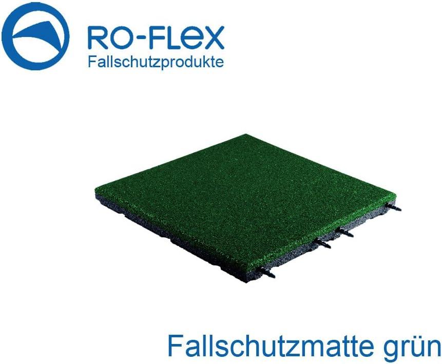 Fallschutzmatte 500x500x45mm gr/ün Gummigranulat