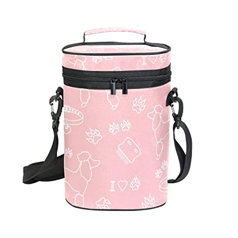 DEZIRO Poodle Comb Collar Dog Track Pink Luggage Cover Baggage Cover