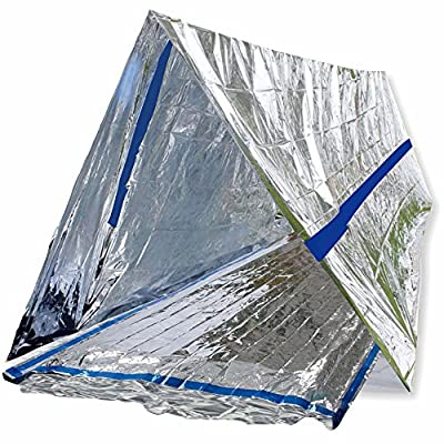 BlizeTec Emergency Bivy Sack Mylar Thermal Survival Blanket and Tube Tent with Mini Carry Bag