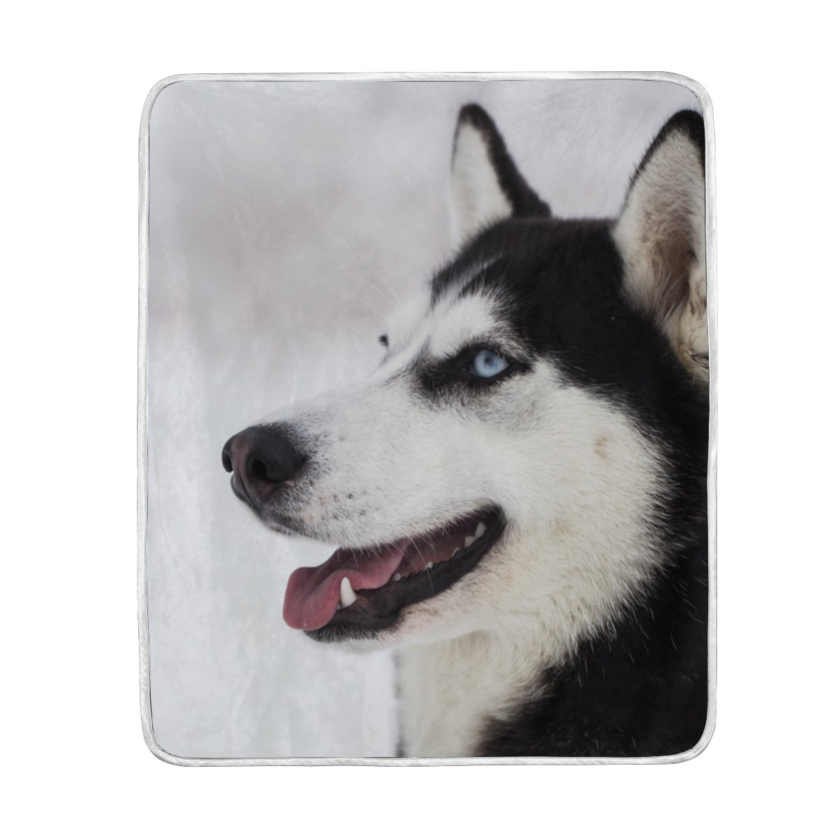 Cooper girl Cute Husky Dog Throw Blanket Soft Warm Bed Couch Blanket Lightweight Polyester Microfiber 50x60 Inch