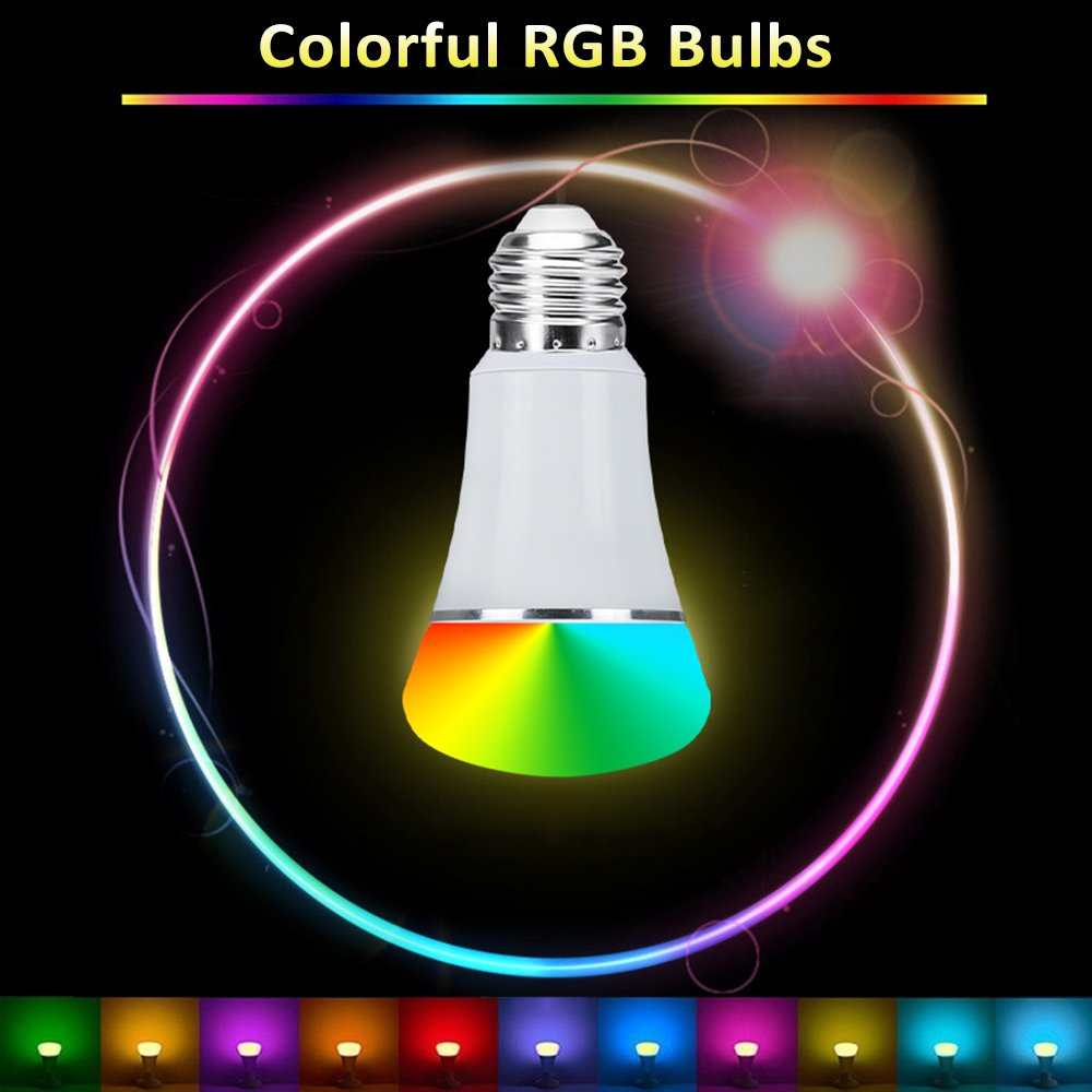 Smart WiFi Bulb,Weton Smart LED Bulb Multicolored Light Bulbs Work with Amazon Alexa Google Home, No Hub Required,Remote Control via Free App for Android & all Smartphones,Dimmable Light Sunrise Light by Weton (Image #3)