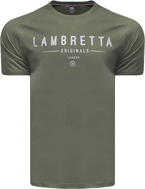 Lambretta Originals Raglan - Camiseta de manga corta para hombre: Amazon.es: Ropa y accesorios