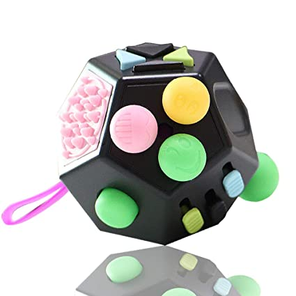 Ship From Us&cn Multi-color Limitless Squeeze Cube Key Chain Toys Bubble Stress Relief Anti-anxiety Time Killer Gift Toys Superior Quality In