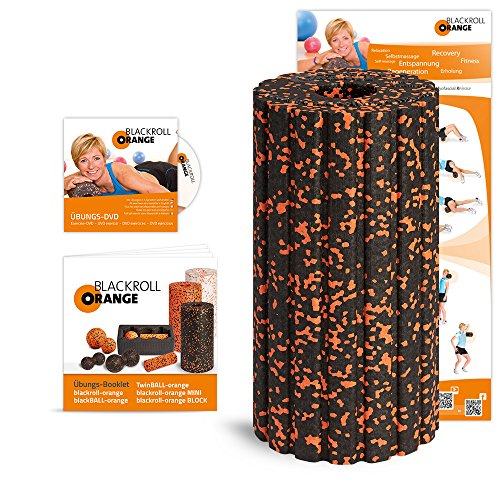 Blackroll Orange Groove STANDARD (Das Original) Selbstmassagerolle - inkl. Übungs-DVD, -Poster und -Booklet