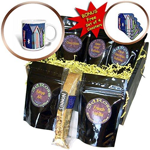 Danita Delimont - Beaches - Australia, Victoria, Melbourne, Brighton Beach, bathing boxes - Coffee Gift Baskets - Coffee Gift Basket (cgb_226232_1)