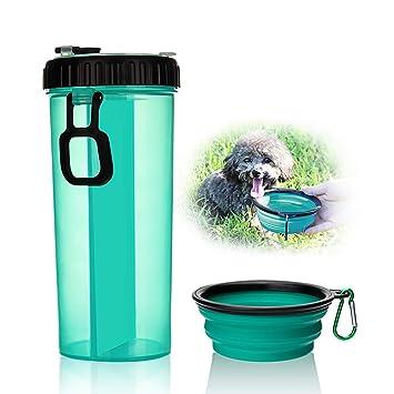 Botella de agua para perro 2018, portátil, a prueba de fugas, de calidad