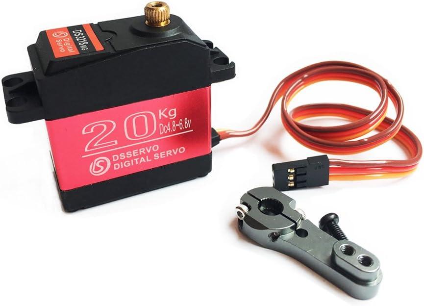 25KG Digital Servo Voll Metall Getriebe Hohes Drehmoment Wasserdicht für V1V4