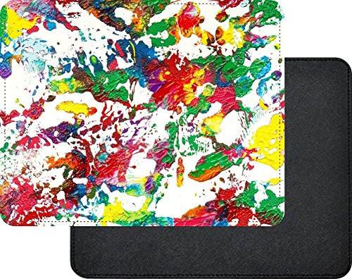 Price comparison product image Rikki Knight Acrylic Splash of Color Design Faux Leather Rectangular Mouse Pad