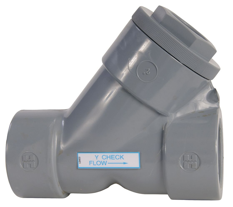 1-1//2 Size Hayward YC10150SE Series YC Y-Check Valve Socket End PVC with EPDM Seals