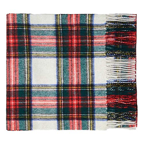 100% Lambswool Tartan Scarf by Shepherds Land (Medium, Dress - Stewart Dress Tartan