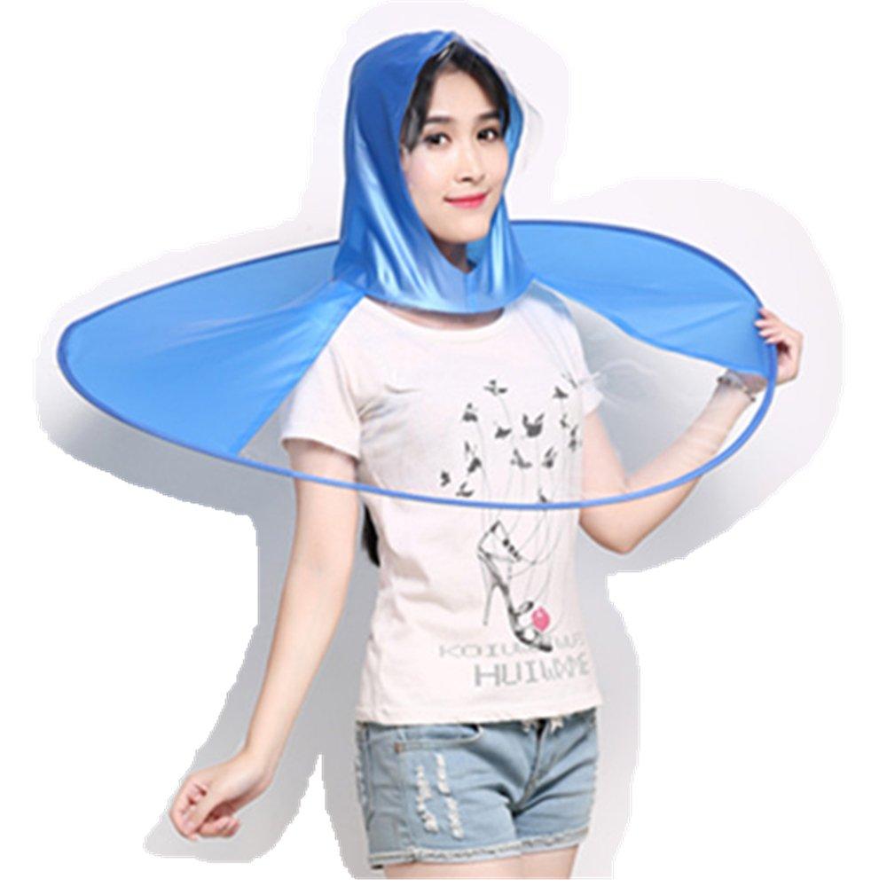 UFO Shape Rain gear replace umbrella / Raincoat / rain poncho (Blue, L)