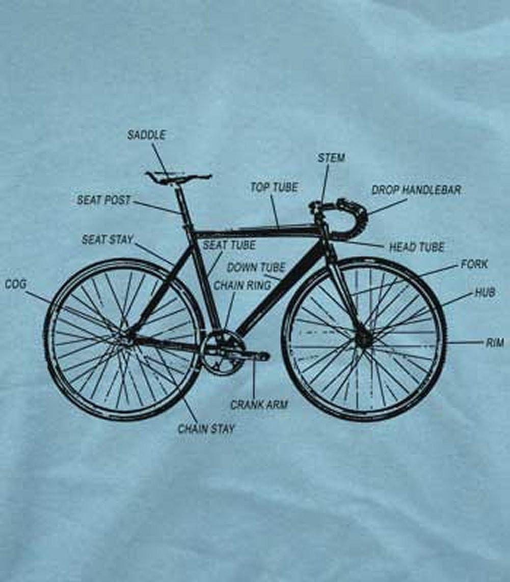 Amazon.com: Bike Anatomy T-Shirt-Funny Bicycle Riding shirt: Clothing