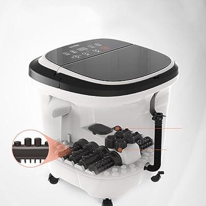 ZZHF Tina para pies Masaje automático cubos con calentador de agua eléctrico Home foot basin Foot