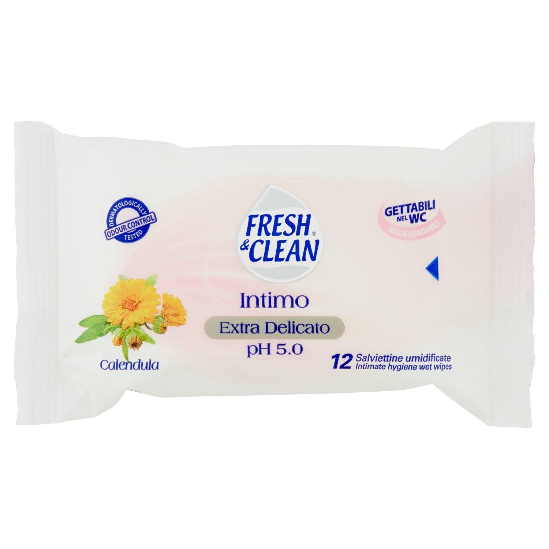 Fresh & Clean - Toallitas húmedas intimas - 12 toallitas: Amazon.es: Salud y cuidado personal