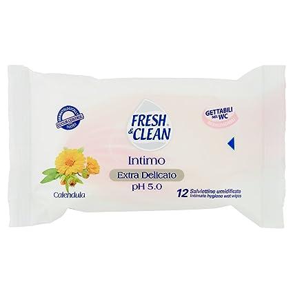 Fresh & Clean - Toallitas húmedas intimas - 12 toallitas