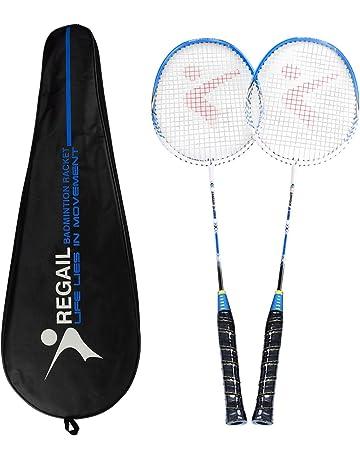 Pack de 2 raquetas de bádminton, raqueta ligera de bádminton con aleación de carbono deportiva