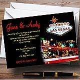 Las Vegas Strip Personalized Wedding Invitations
