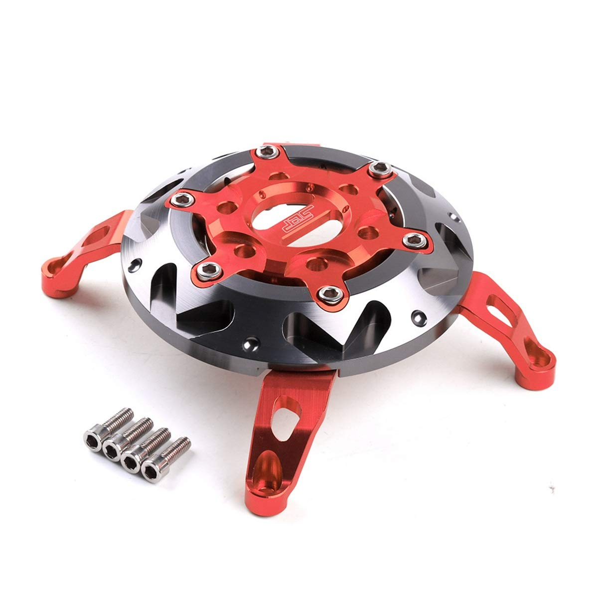 CONGCASE Motorcycle Compatible with Yamaha Smax155 Modified Aluminum Alloy Fan Blade Engine Cover (Color : Red) by CONGCASE