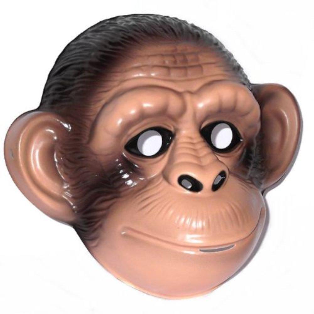 Chimp / Monkey Plastic Face Mask Blue Frog Toys