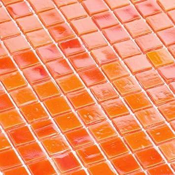 Glasmosaik Fliesen Mosaik Mosaikfliesen Schwarz 1,5 x 1,5 cm 4 mm