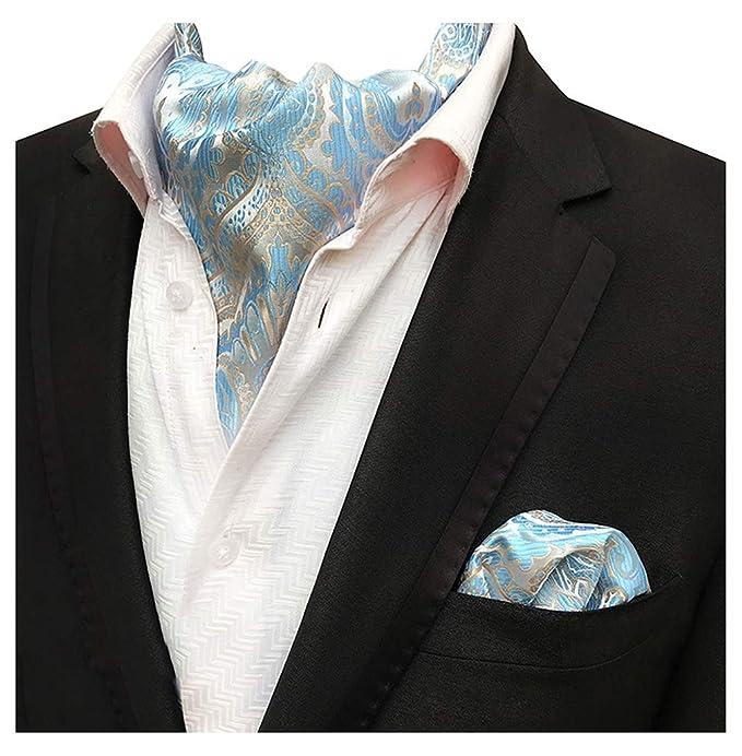 Amazon.com: mohslee corbata azul y blanco estampado Floral ...