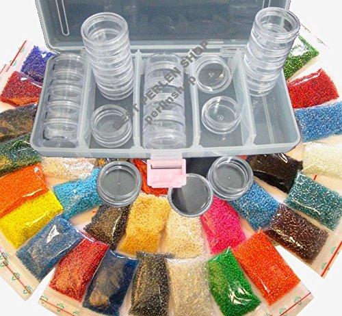 bo/îte 25 bobines de Bricolage Rocailles B18AM50 Lot de 25 Perles de 2 mm 25 x 10 g