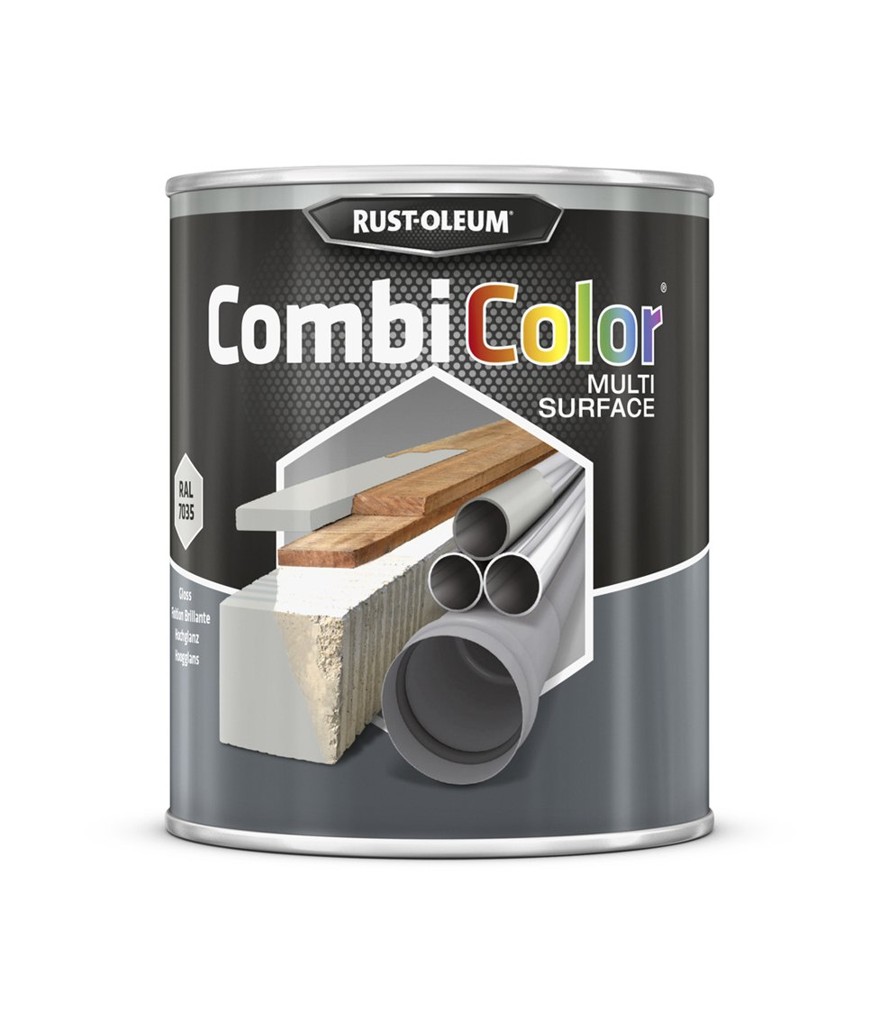 RUST-OLEUM 7381MS.0.75 Combicolor Multi-Surface, One Paint, Many Surfaces, Light grey-RAL 7035