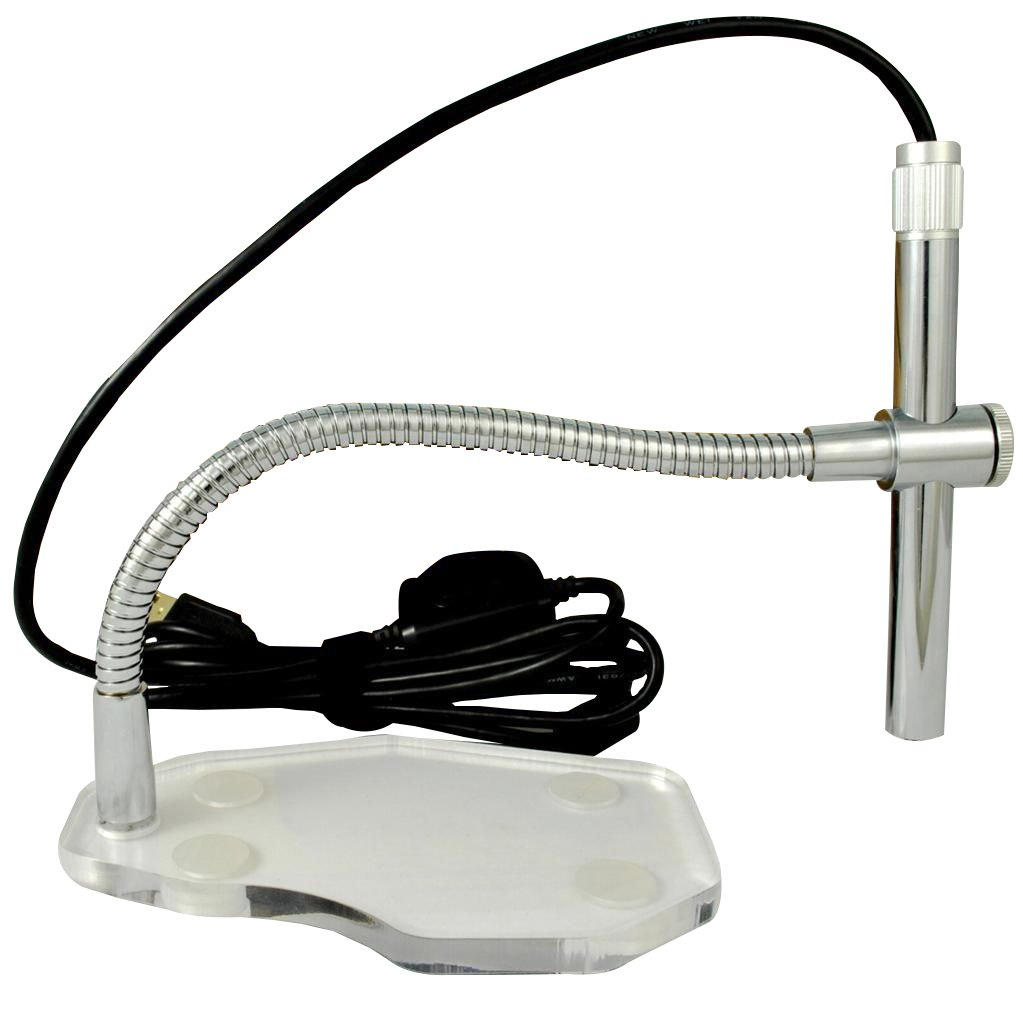 Digital USB Microscope Camera- 2.0MP- 1600 x 1200 HD Images, Video- 200x Zoom-