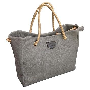 576ad0163043 Amazon.com  Women Canvas Big Bag NEARTIME Simple Shopping Shoulder Bags  Ladies Soft Handle Satchels Square Messenger Bags  Beauty