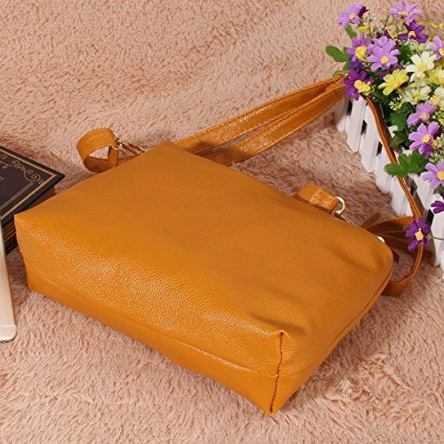 Orange Fille Frange Petit La Bandoulière Sac en Bandoulière Sac faux Femmes Cabina Femmes Sac Souple d'épaule Cuir 11Zaw0q