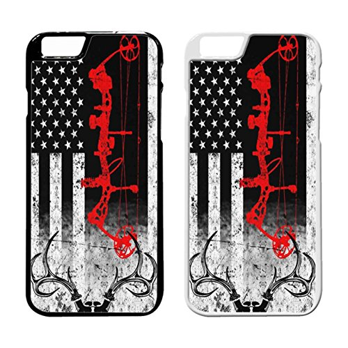 Bow Hunting Usa Flag IPhone Case Iphone 7 Plus Case Black Plastic - Standard Usps International Rates Shipping