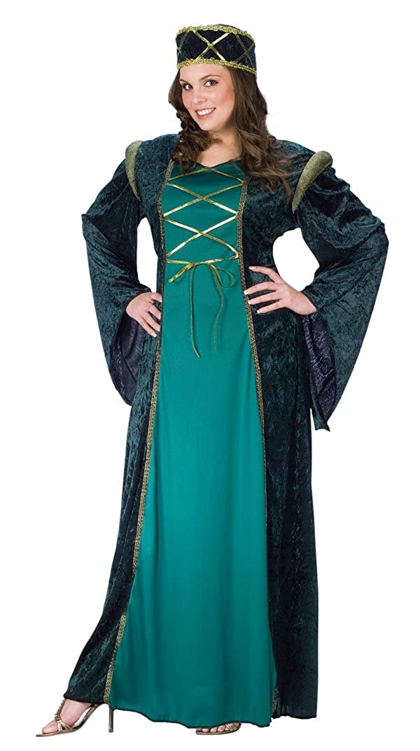 cac888d7cf8 Amazon.com  Fun World Renaissance Lady in Green - Plus Size Costume   Clothing