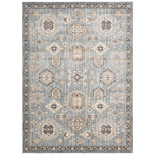 Rug Squared Phoenix Transitional Area Rug (PHX02), 5-Feet 3-Inches by 7-Feet 3-Inches, Seafoam (Furniture Phoenix Outdoor Discount)