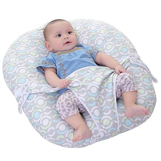 KAKIBLIN Infant Lounger Pillow Baby Toddler Basic Nursing Beanbags Pillow