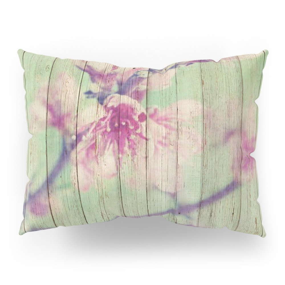 Society6 Sweet Flowers On Wood 05 Pillow Sham Standard (20'' x 26'') Set of 2
