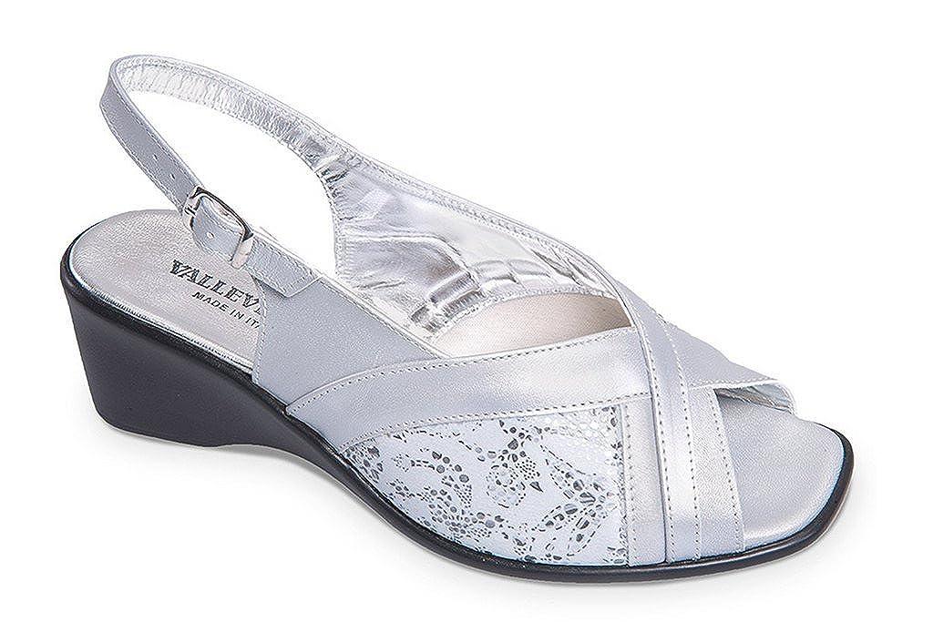 Valleverde Damen Sandalen Silber / / Silber Schwarz 485f33