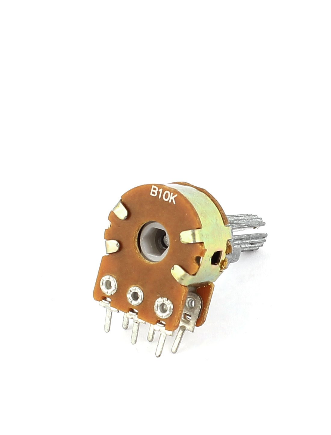 sourcingmap/® B10K 10K ohm 6 Pins Split Shaft Linear Double Taper Potentiometers