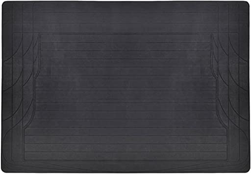 FRONT OR REAR ALL BLACK RUBBER LONG CAR SINGLE FLOOR UNIVERSAL MAT