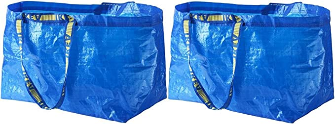 IKEA FRAKTA Carrier Bag, Blue, Large Size Shopping Bag 2 Pcs Set: Amazon.ae