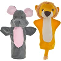 Cuddly Toys Lion and Mouse Storytelling Hand Puppets (11 inch)