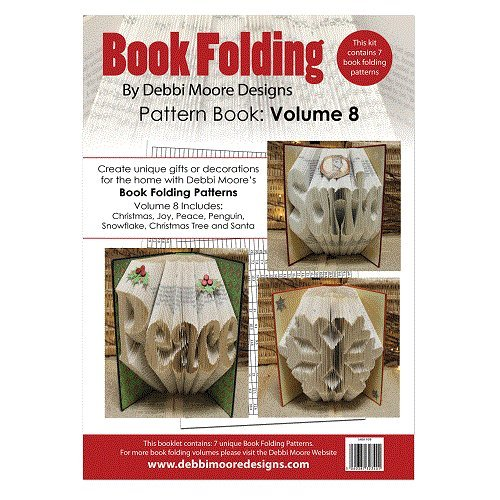 Debbi Moore Book Folding Pattern Book Volume 8 - Christmas Peace Joy Santa Tree Jackdaw Express