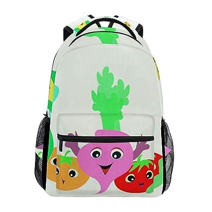 c12dc027d406 Amazon.com: Backpack Cute Corn Radish Womens Laptop Backpacks Hiking ...