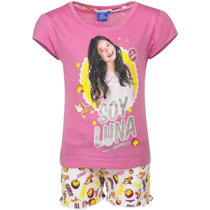 Soy Luna - Conjunto Pijama - para niña - QE2161 [Rosa - Bianco - 12